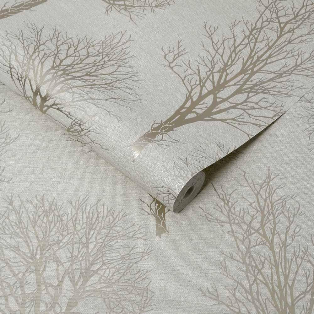 Boutique Heavyweight Vinyl Landscape Ivory Wallpaper In 2020 Wallpaper Roll Wallpaper Boutique Wallpaper