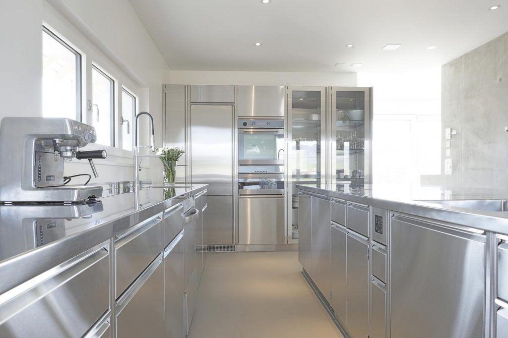 foto design edelstahlküche edelstahl küchen niederwiler