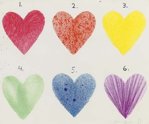 JIM DINE - DUTCH HEARTS - KUNZT.GALLERY http://www.widewalls.ch/artwork/jim-dine/dutch-hearts/ #Print