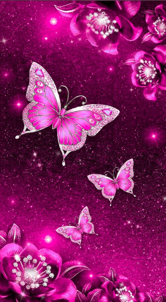 Glitter phone wallpaper image by Nicole Budka on Butterfly ...