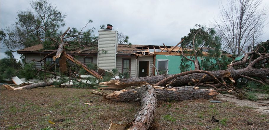 Take a look of some homes around Pensacola before and after the tornado