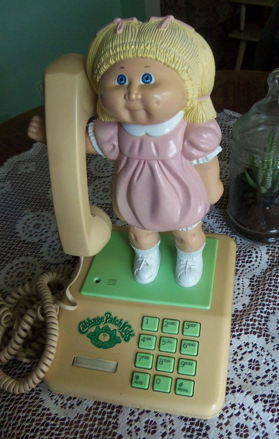 Vintage 1984 Coleco Cabbage Patch Kids Phone By Vintagexox On Etsy 45 00 Cabbage Patch Kids Cabbage Patch Cabbage Patch Dolls