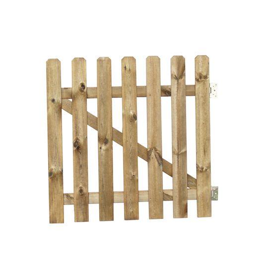 Portillon battant en bois Merens, l100 x H100 cm portillon - quelle peinture pour bois exterieur