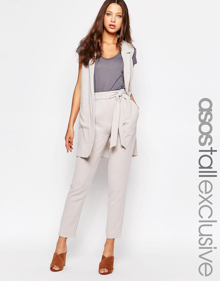 Fashion · ASOS Tall | ASOS TALL Co-ord Belted Tapered Pant ...