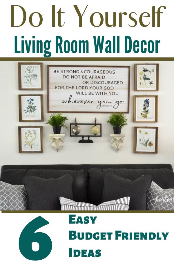 Diy Wall Decor Ideas Simple And Affordable Wall Decor Living Room Diy Wall Decor Affordable Wall Decor