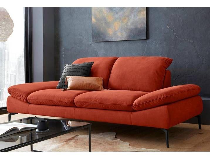 2 5 Sitzer Sofa Mit Sitztiefenverstellung Fusse Schwarz Pulverbeschi Furniture Home Sofa