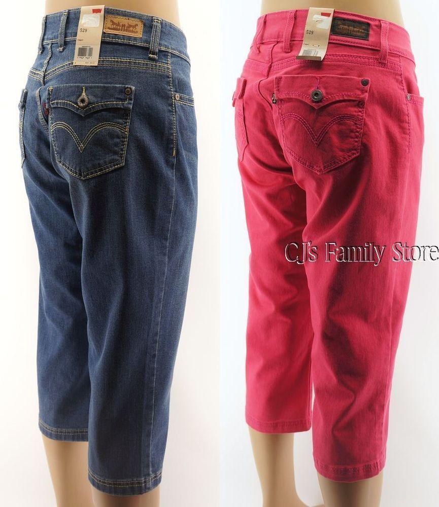 Details about Levis 529 Curvy Capri Jeans Misses Blue or Pink ...