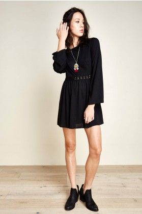 9dc9c4dd7d06 Long Black Bell Sleeve Tunic - Earthbound Trading Co. | Dresses ...
