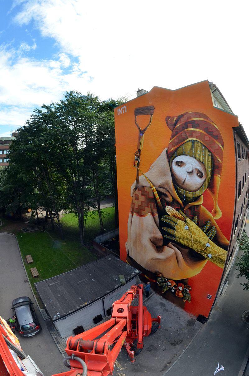 Inti Castro Sincretismo Universal Arte Urbano Graffiti Arte Urbano Graffiti Art