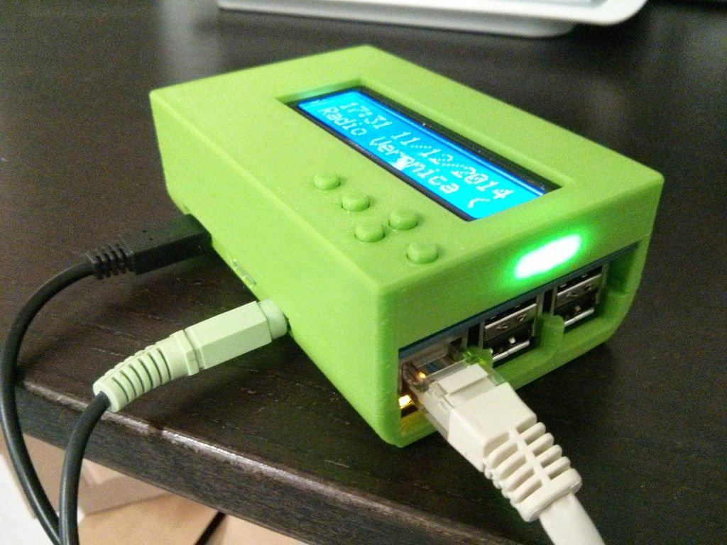 Case for Raspberry Pi B+ with Adafruit LCD + keypad kit by