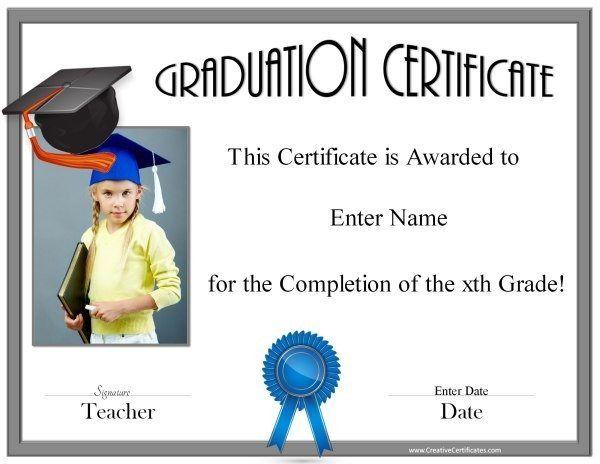 Graduation Diploma  Printable    Certificate