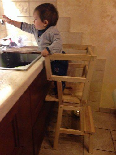 Sgabello per piccoli aiutanti in cucina - Da sgabello ikea a ...