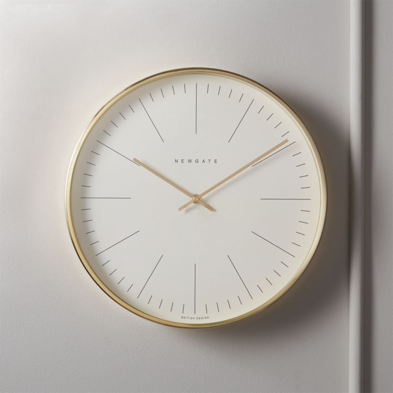 Shop Oslo Radial Brushed Brass Wall Clock Modern Minimal Wall Clock Is Framed In Bright Golden Hued Brass For A Wall Clock Modern Clock Wall Decor Wall Clock