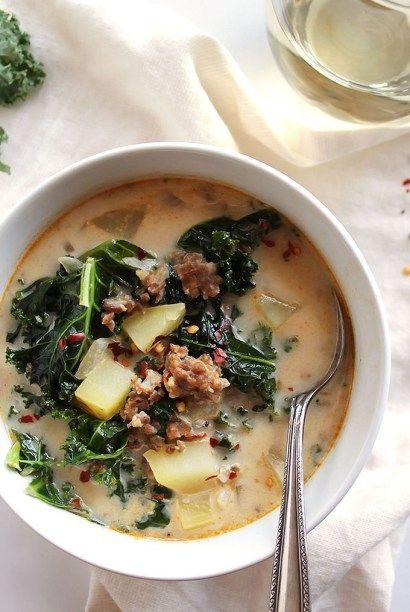 Dairy Free Zuppa Toscana Soup #zuppatoscanasoup