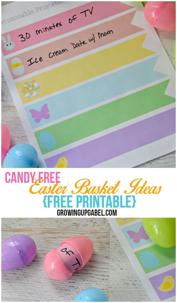 Looking for candy free easter baskets ideas for kids use these free looking for candy free easter baskets ideas for kids use these free easter printables to give the kids treats without sugar negle Images