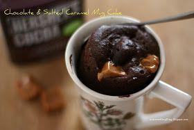 NomNomBlingBling: NomNom: Chocolate and Salted Caramel Mug Cake