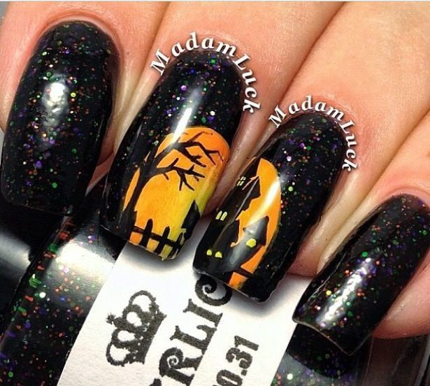 witch nails halloween nail design