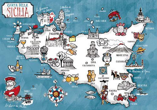 Sicilia Da Scoprire Illustration By Federico Mariani Sicilia