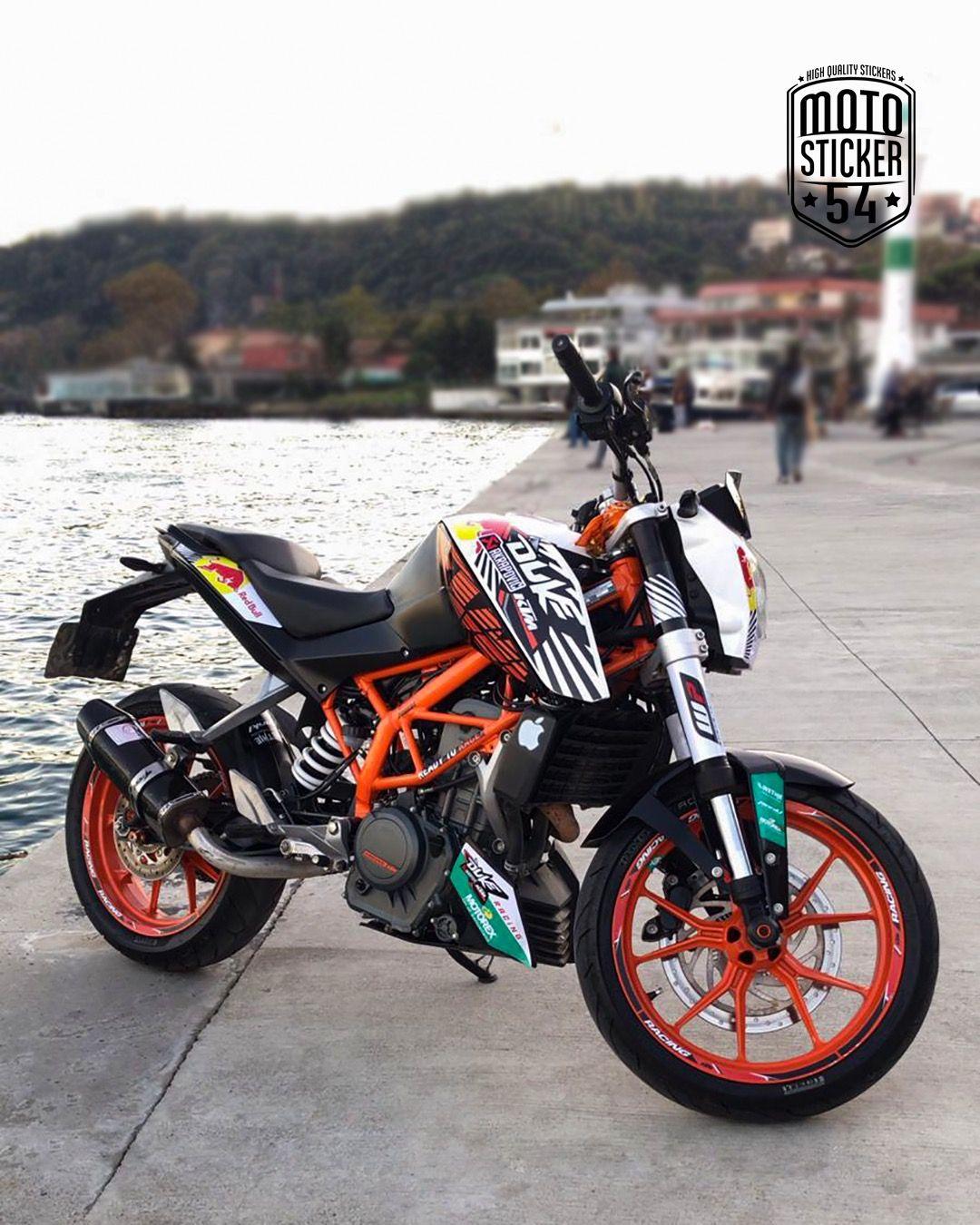 Ktm duke 200 special design redbull sticker kit motosticker54 motorcycle ktm duke sticker wrap