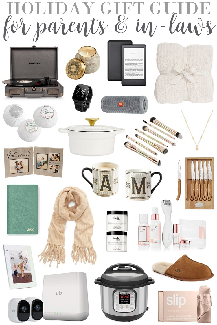 Christmas Gifts for Parents - If you're looking to get more of your holiday shopping crossed off, this gift guide is for YOU. Do you find it hard to buy gifts for your in-laws or parents? I know I do, they're sooo hard to shop for. No matter what they like to do, these are the perfect gift ideas for your parents and for in-laws! #giftguide #forthelove #inlaws #parents #christmas