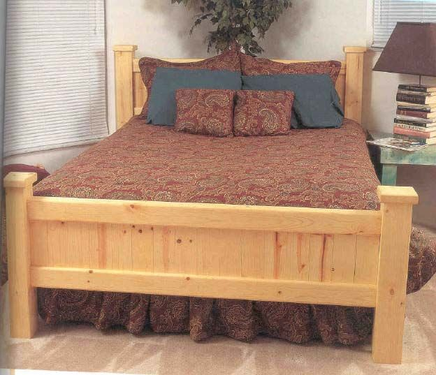 Gun cabnets in headboard of bed.  Pine Bed Wood Furniture Plans