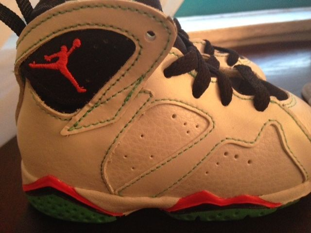 9d82d48a5962 Air Jordan Retro 7 White Infrared 23 Black Verde- Girls  Toddler Size 5C   Nike  Athletic