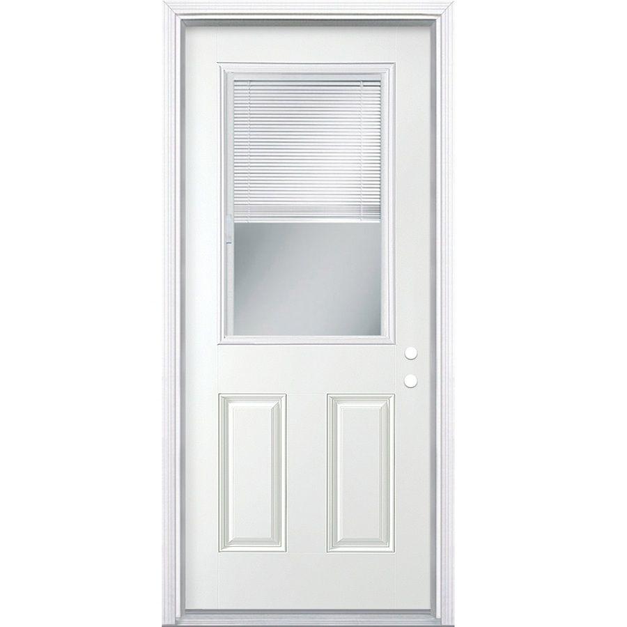Masonite panel insulating core blinds between the glass half lite