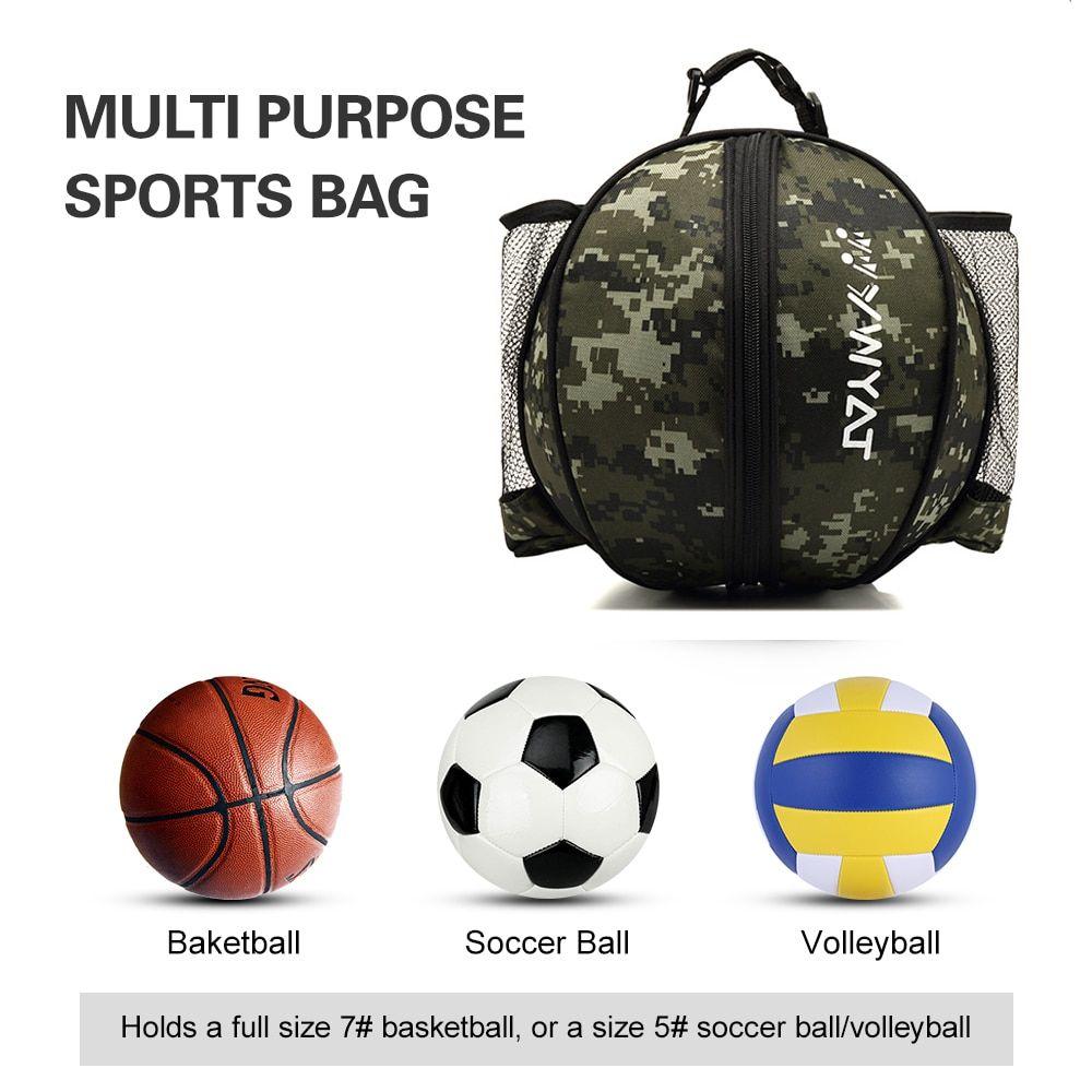 Universal Sport Bag Basketball Ball Football Volleyball Backpack Handbag Round Shape Adjustable Shoulder Strap Knapsacks Storage In 2020 Sport Bag Handbag Backpack Basketball Ball