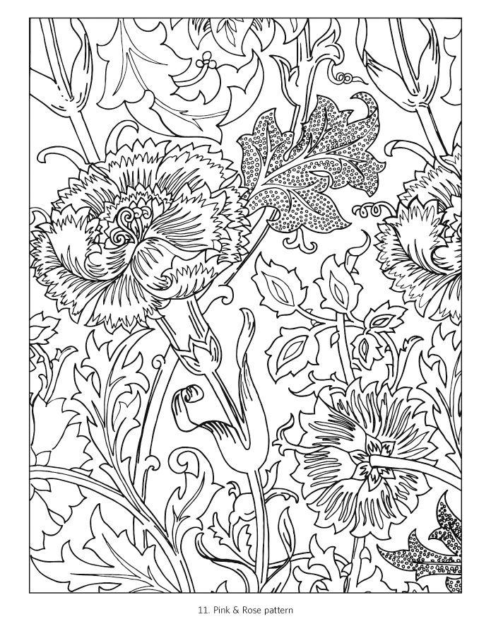 William Morris Coloring Book | Вильям Моррис | Pinterest | Páginas ...