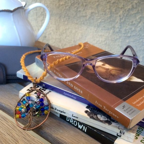 Glasses Lilac emporio Armani   Stunning and unique. In great condition these are my most recent glasses, so they are very new. Less than a year old and even the prescription lenses on them are in perfect condition. Grab these glasses, a few books and some tea :) comes with eyeglasses case. Emporio Armani Accessories Glasses