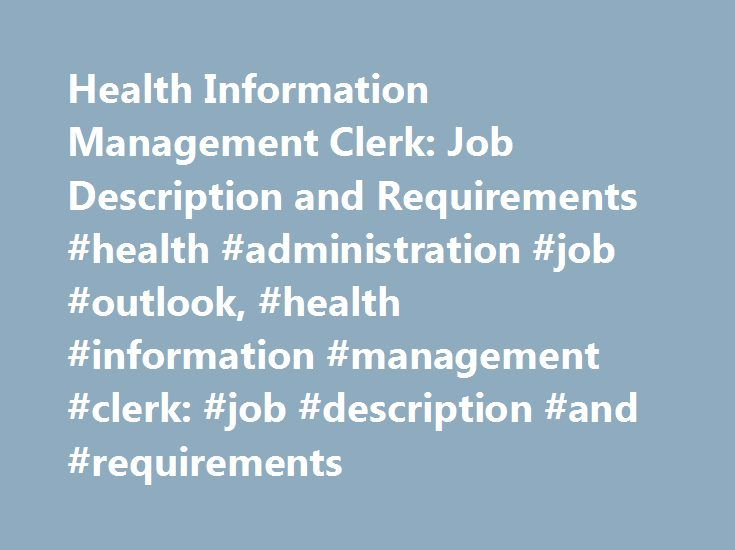 Health Information Management Clerk Job Description And
