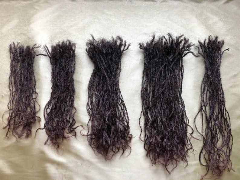 100 Human Hair Micro DreadLock Extensions (Donated) 9 to