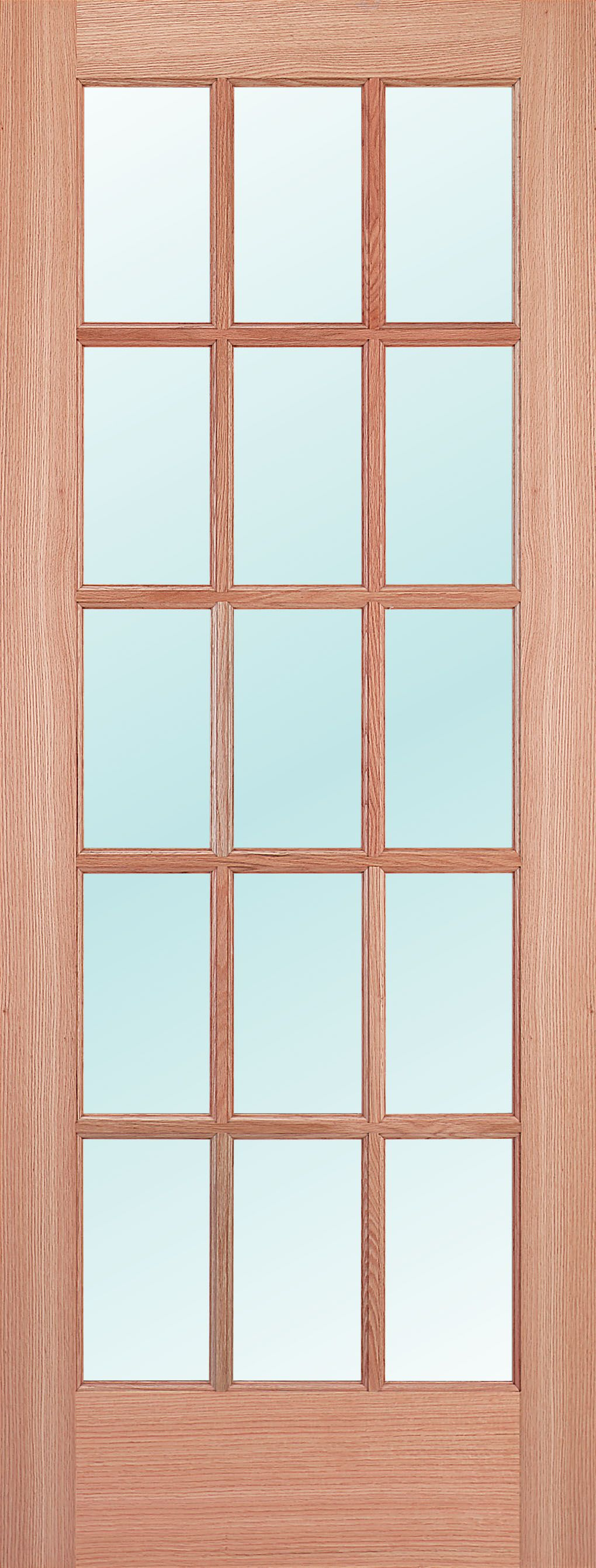 Woodgrain Wood Door Interior French Door Oak Specie With Clear