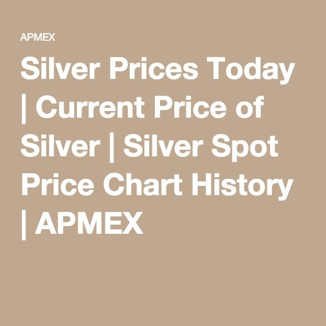 Silver Prices Today Cur Price Of Spot Chart History Apmex