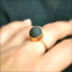 Lava Bead Gold Ring | Uncovet