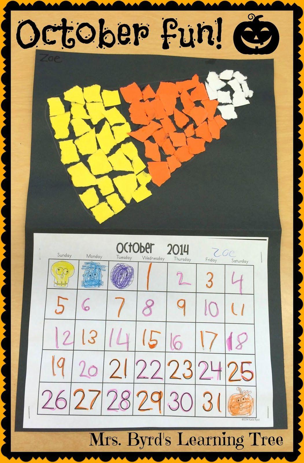 Candy Corn Calendars