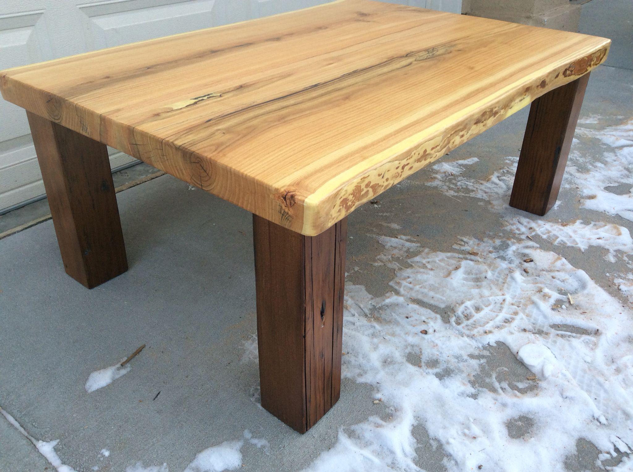 Live edge honey locust coffee table