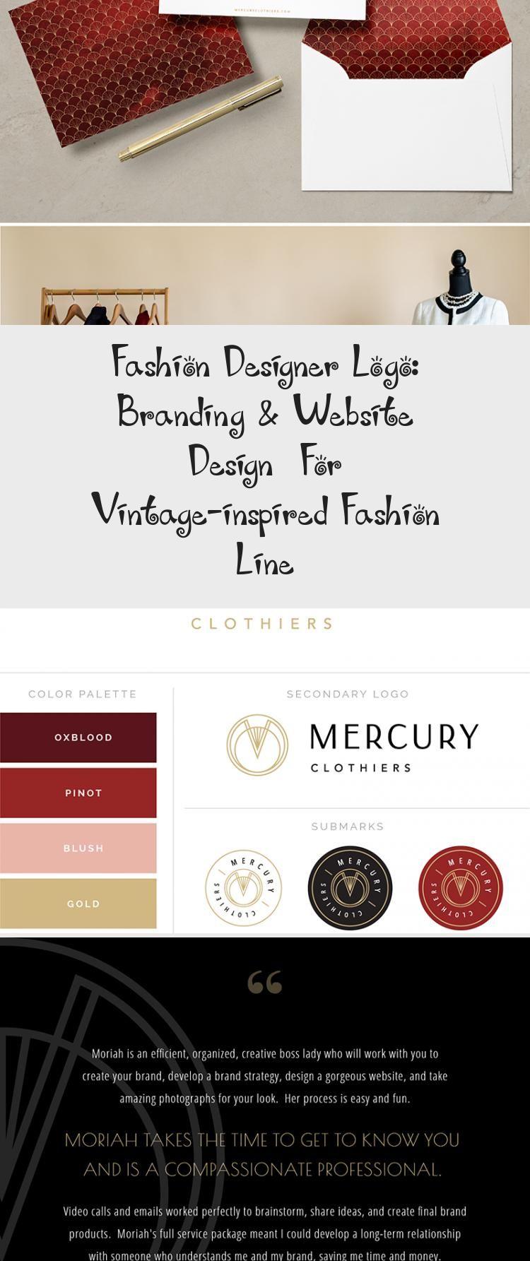Fashion Designer Logo Branding Website Design For Vintage Inspired Fashion Line In 2020 With Images Simple Logo Design Website Branding Brand Strategy Design