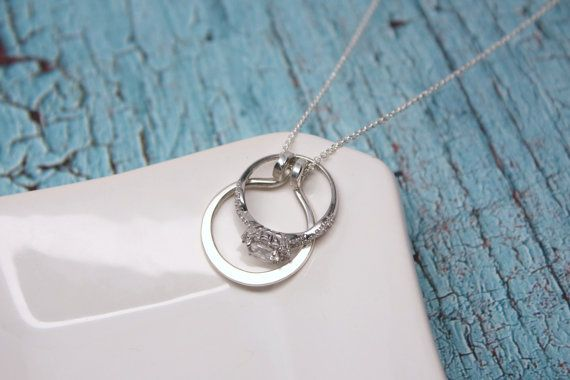 circle ring holder necklace wedding or engagement ring