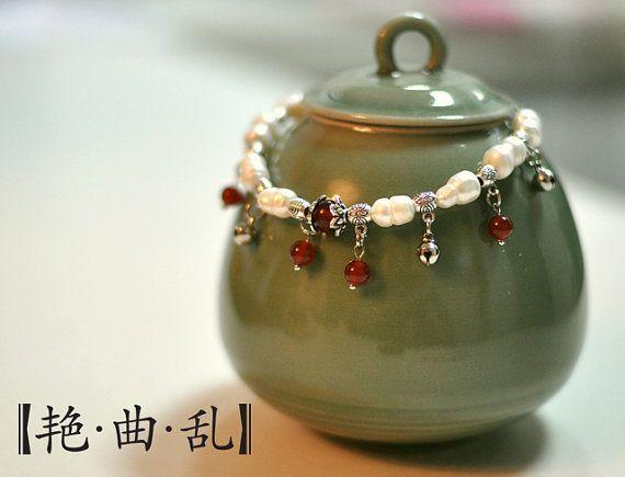 Pink Baroque Pearls handmade Bracelet  little by EastPrincess, $29.00