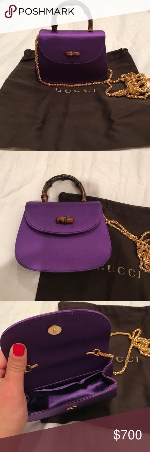 95db1be42402 Gucci purse Purple satin mini Gucci evening purse in perfect condition. Gorgeous  Gucci Bags Mini Bags