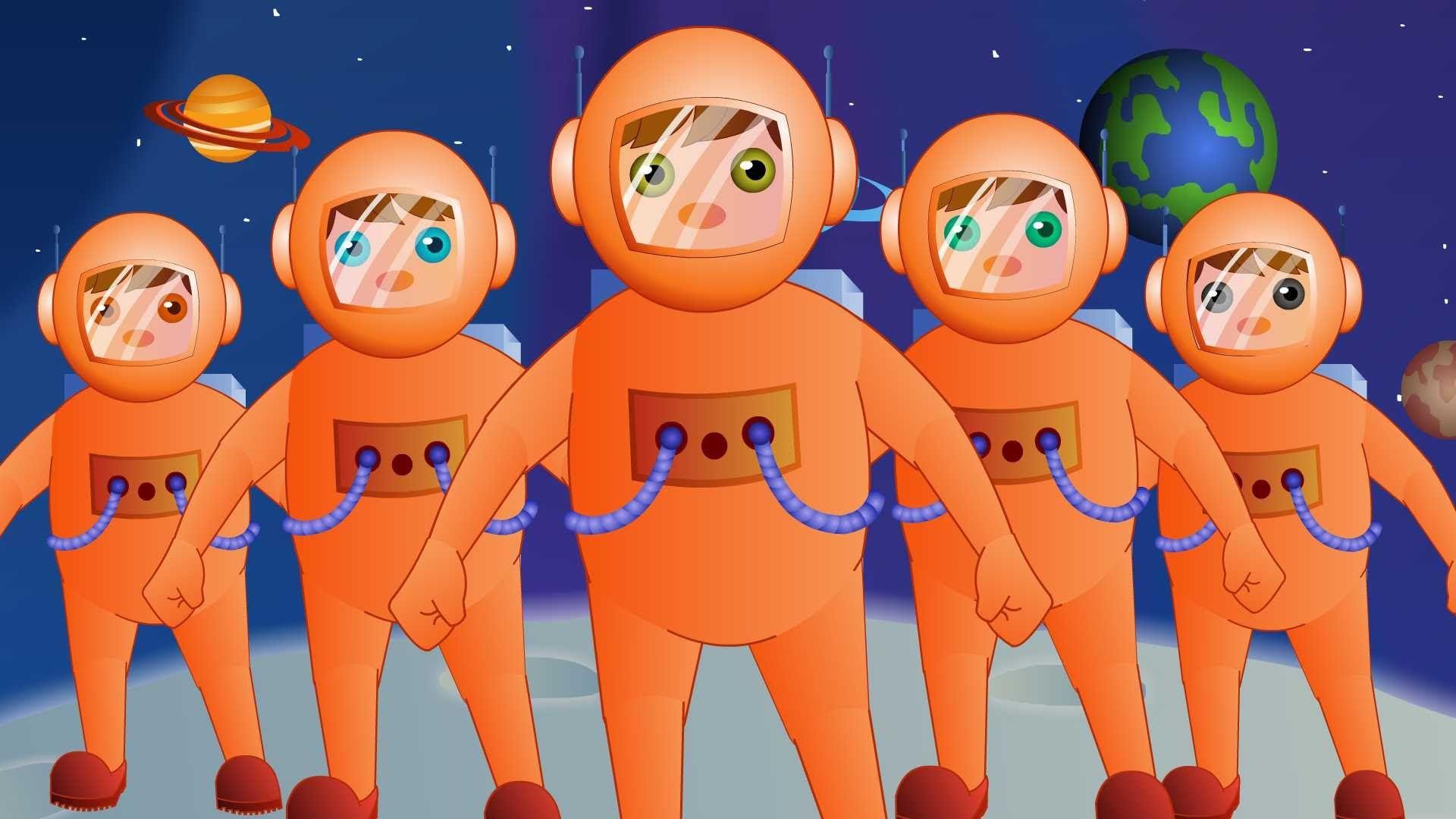 5 Little Astronauts