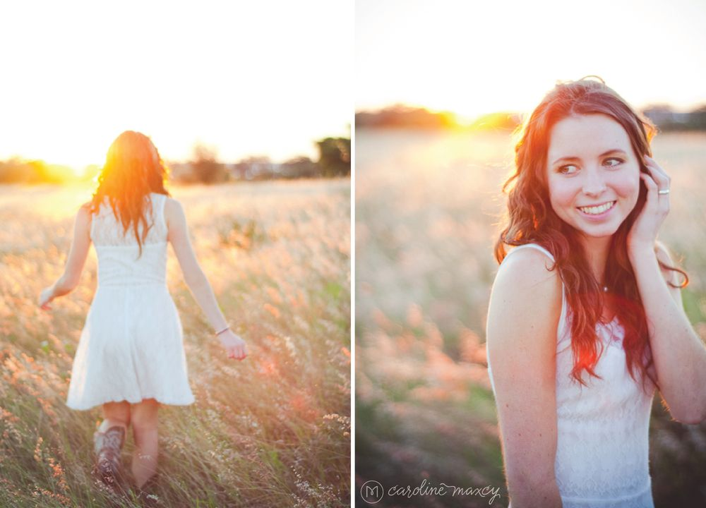 Senior Session / Location -  In a sunlit field / Private Property Lake Placid, FL / Senior Photography with Caroline Maxcy Photography (www.carolinemaxcy.com)