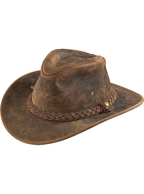 7750ce9470e Henschel Hats Outback 1161-21 Rustic Leather Hiker Outback Collection