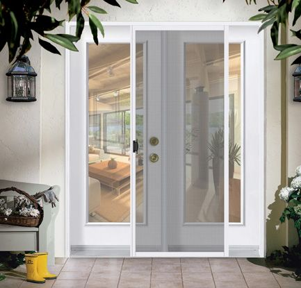 A Double Door With Sliding Screen Variety Of