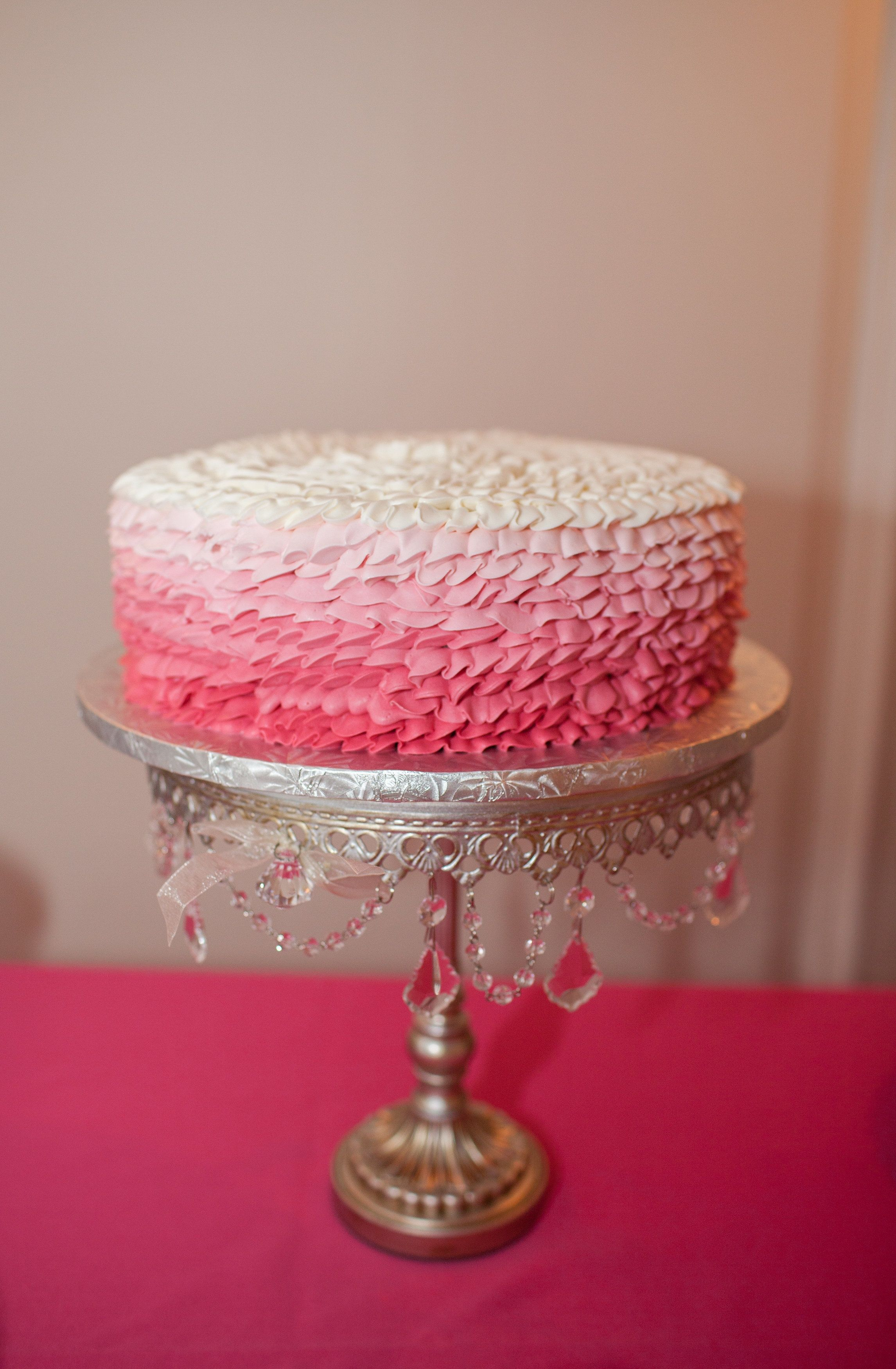 Single Tier Ombre Cake | Amphora Bakery | Sheaulee Ng | TheKnot.com ...