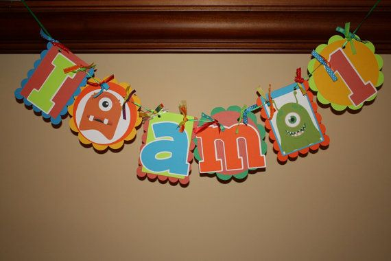 I am 1 High Chair Birthday Banner by lesliepie on Etsy, $9.00