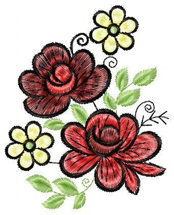 Free Rose Embroidery Flowers Free Machine Embroidery Designs