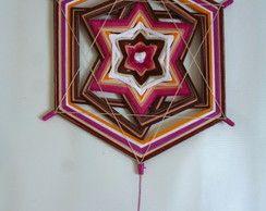 Mandala estrela de seis pontas