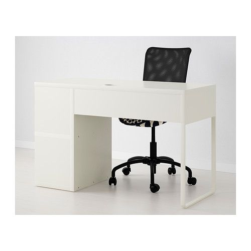 Superbe MICKE Desk With Integrated Storage   White   IKEA